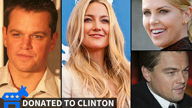 Celebrities bury 2016 candidates in cash, with some surprise donations