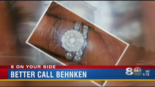Florida woman's diamond ring missing after dropping it off