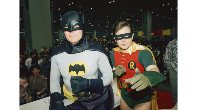 Adam West to sell Batman-themed paintings he's created