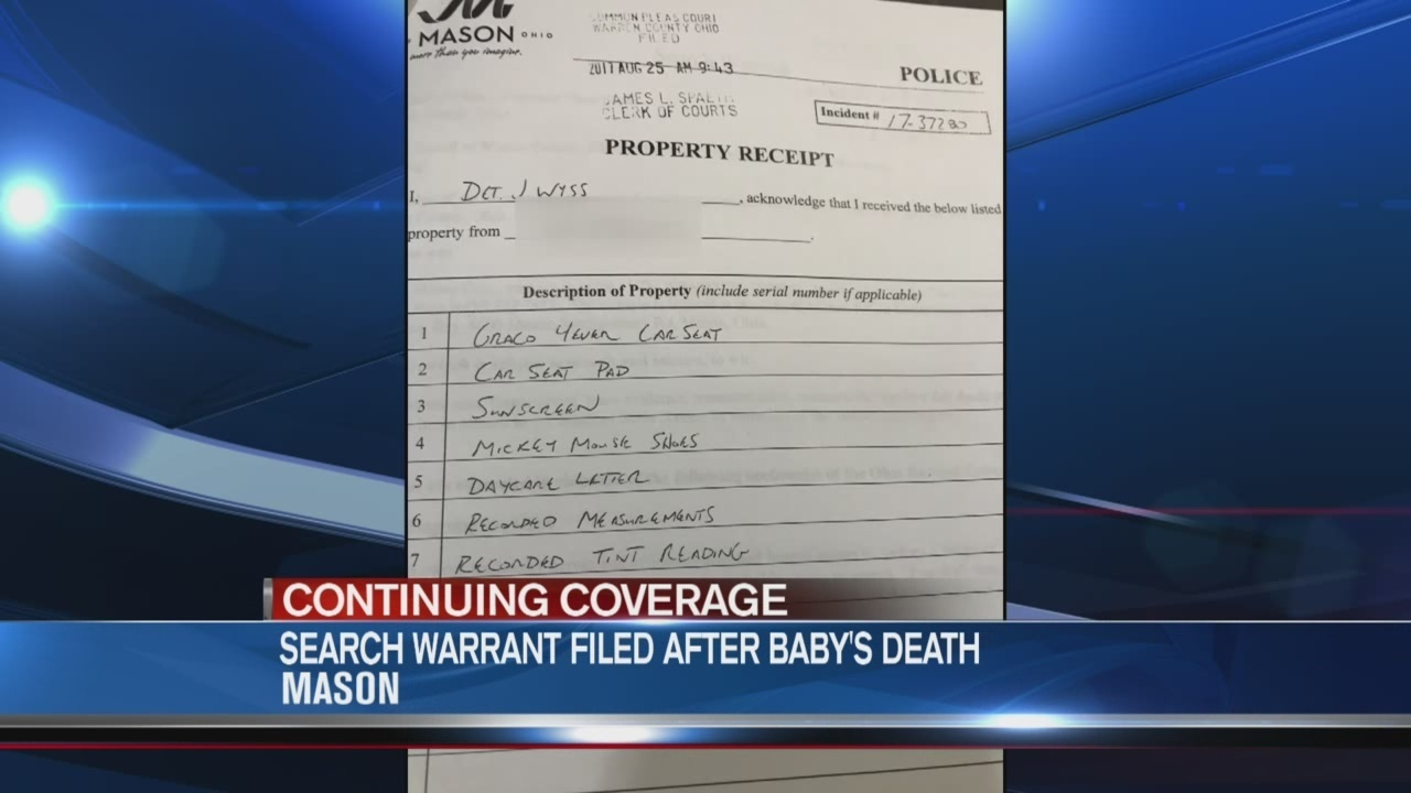 Search warrant served in 15-month-old baby case