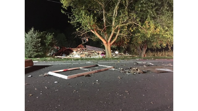 House leveled by explosion in New Carlisle