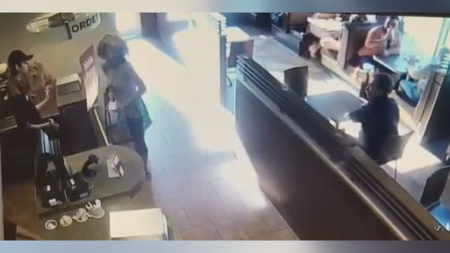 VIDEO: Woman throws poop at coffee shop employee who denied her restroom access