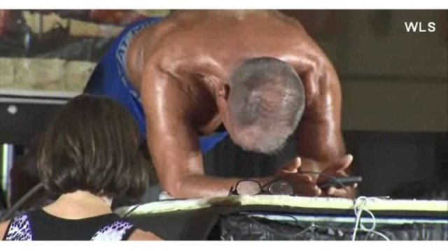 Man breaks world record after planking for more than 10 hours