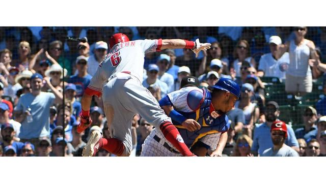 Bases-loaded walk gives Cubs victory over Reds