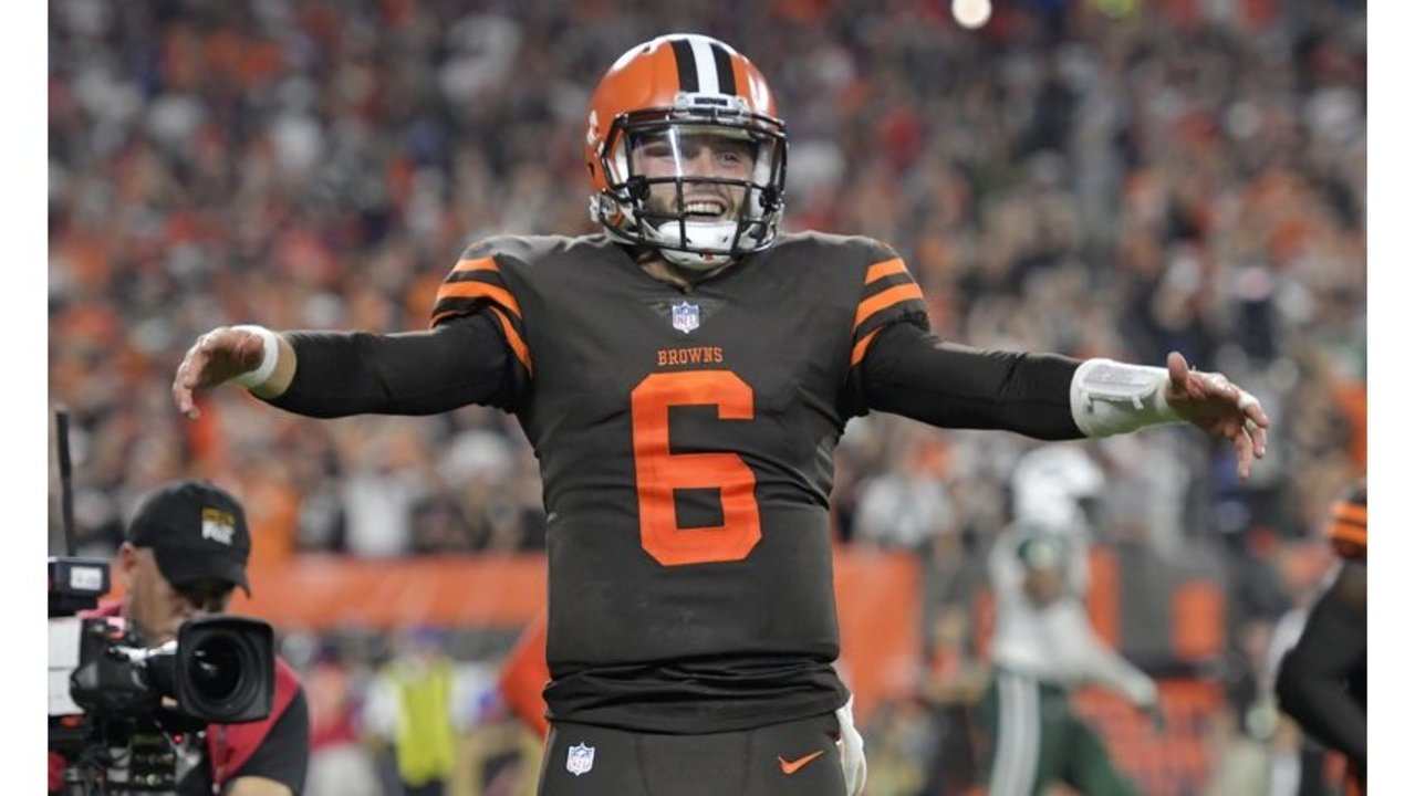 watch 3bb48 2d7a0 Mayfield leads Browns to first season sweep of the Bengals ...