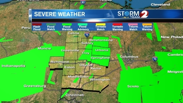 Flood Warnings extended in the Miami Valley