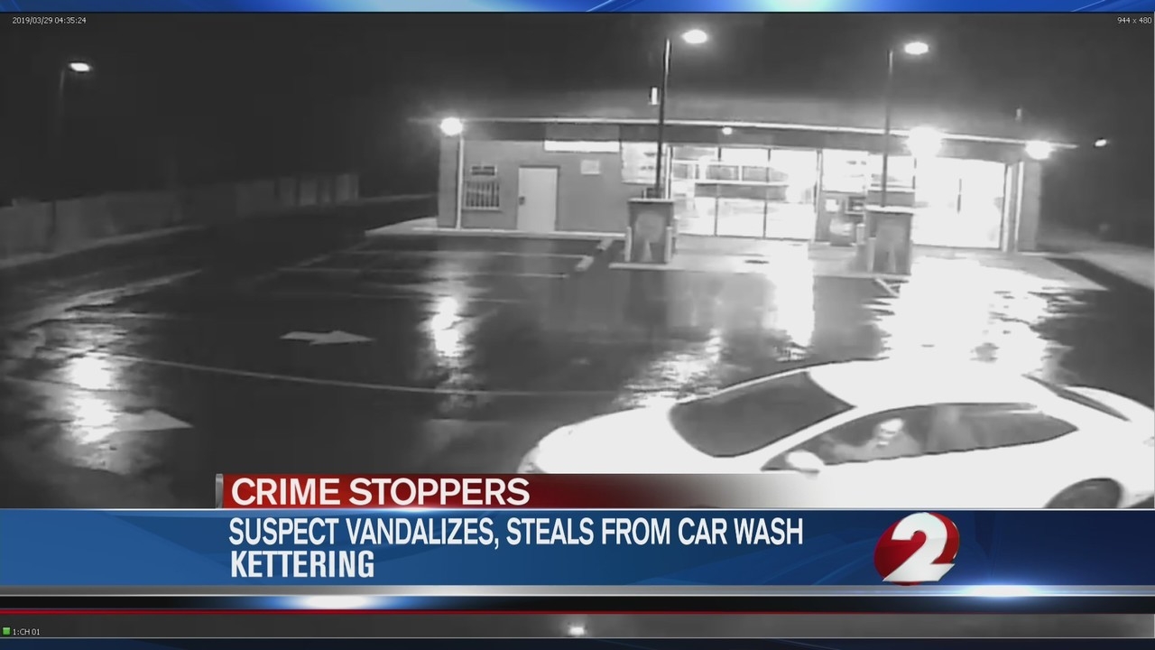 Suspect vandalizes, steals from car wash