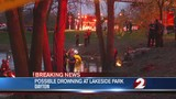 Water rescue team responds to Lakeside Park for possible drowning