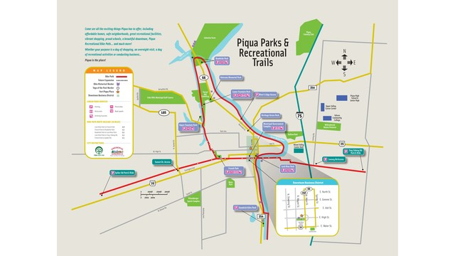 Piqua Bike Path Map